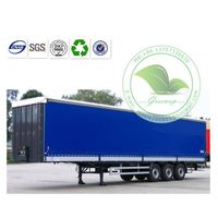 UV Resistant Blue Tarpaulin Container Side Curtain