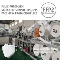 Fully-auto Aura-Fold-Flat FFP2 N95 Respirator Mask Machine Production Line