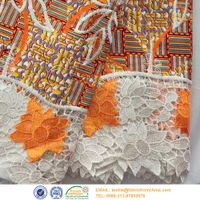 african lace wax print fabric
