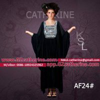 Arabic Gowns Designs Black Velvet Bat Sleeves Jalabiya