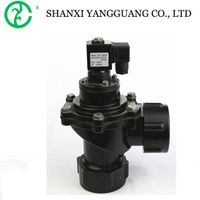 Diaphragm reducing pneumatic angle valve solenoid