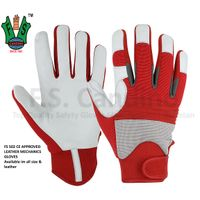 CE Approved Leather Mechanics Work Gloves