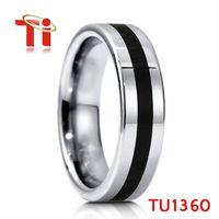 Ti fashion mens ring wedding bands tungsten carbide rings