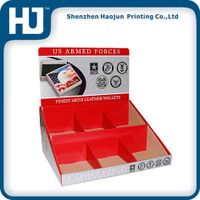 Wallets corrugated paper display box