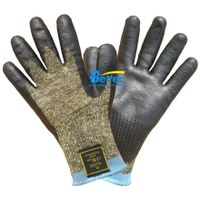Aramid Fiber Yarn Knitted Shell With Nitrile Dipped Cut Resistant Work Gloves BGKN101