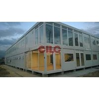 Mobile House Cabin Container with Large Glass Windows