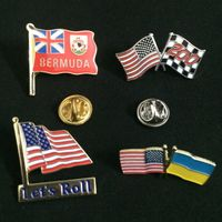 Custom Metal Crafts Country Flags Pin Badge