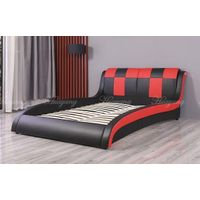 Double Color PU Bed Double Bed Bedroom Bed King Bed Sofa Bed Modern Bedroom Furniture thumbnail image