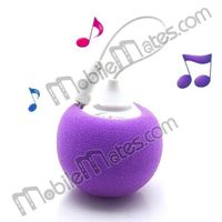 Silicone Ball Dock 3.5mm Plug Mini Audio Speaker for iPhone, iPod, PC and Mobile Phone