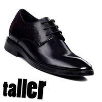 invisible heel man shoes/inner heel shoes/hidden heel shoes