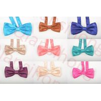 cheap but high quality satin solid bow tie thumbnail image