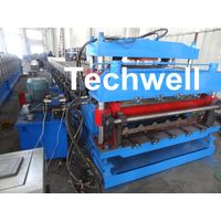 18 Forming Stations Roof Panel Roll Forming Machine , Double Sheet Roll Forming Machine thumbnail image