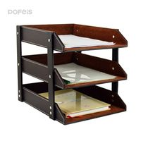 Leather Office Storage Magazine Holder Paper File Tray