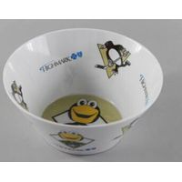 Double Side Decal Print Melamine Salad Bowl 6 Inch