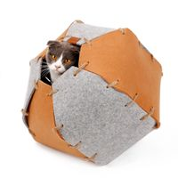 eco soft felt cat dog bed cave for pey house