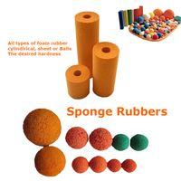 High quality cleaning sponge ball Soft/Medium/Hard Concrete Pump Rubber Cleaning Sponge Ball thumbnail image
