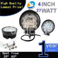 Factory direct sale 6000k Round 4.3 inch 27w 12v tractor led work light