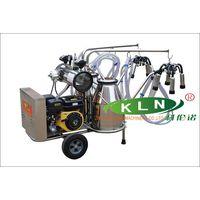 9J-II-type Oil and electricity dual-purpose rotary vane vacuum pump milking trolley