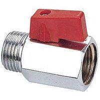 C.P forged mini ball valve,red handle thumbnail image