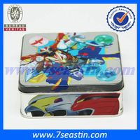 wholesale square hand-draw printing gift packaging cosmetic tin box&embossed metal cans thumbnail image