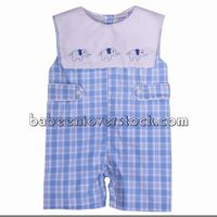 Cute elephant shadow embroidered boy shortall - BB1011