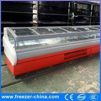 New Top Sliding Glass Door Meat Display Refrigerat