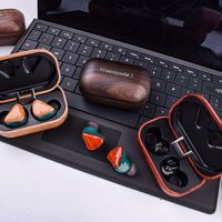 woodpods true wireless hifi with true wireless double master technology stereo wooden earbuds true t thumbnail image