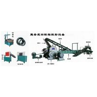Rubber powder production line from waste tire recycling