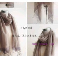 silk & cotton scarf,pure and light color, beautiful luster