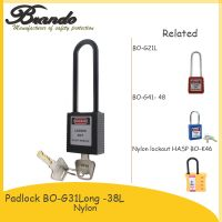 BO G31 ABS Plastic Shackle Safety Padlock With Master Key