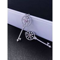 NEFFLY 2016 NEW ARRIVAL FREE SHIPPING 925 SILVER KEY DANGLE EARRING