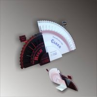 clear acrylic Eyelash advertising products stands