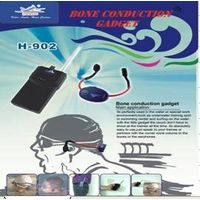 Bone conduction headset gadget for teaching and training in water thumbnail image