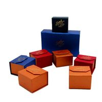 Color Fancy Paper Made Small Gift Box for Jewelry