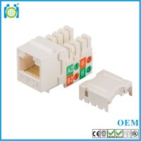 90 degree Cat6 110 IDC keystone jack Slim type