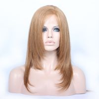 """2017 new style cheap price star hair 16"""" 27# 30# natural straight 100% human hair lace front wigs thumbnail image"""