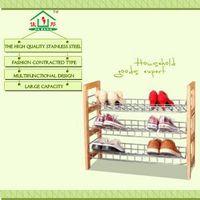 2014 popular wood shelf with metal basket thumbnail image