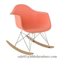 Eames DSW Upholstered Rocking chair