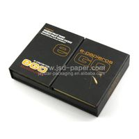 GB-L095 Matt black custom design paper type packages box for accesories