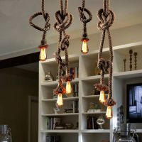 Incandescent lamp or energy saving vintage pendant light for home and hotel