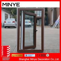 PVC window with wood color in China