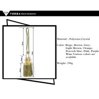 CH-00010 Crystal Vase Tassel Tiebacks