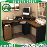 2017 hot sale modern computer desk with bookshelf photos