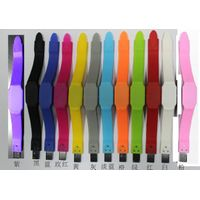 Gift Silicone Wristband LED Watch USB Disk Bracelet USB Flash Drive
