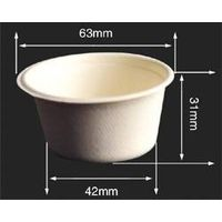2oz Disposable Picnic Cup Picnic Plate Picnic Bowl Made of Bagasse