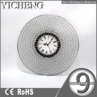best china high quality crystal decorative circle wall clock