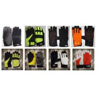 Anti Cut Heavy Duty Protective Working Safety mechanical leather Palm Gloves in wholesale