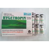 Real Hygetropin with serial number, black top, 100IU