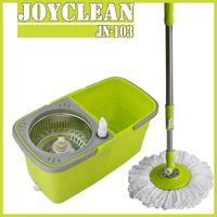 Joyclean Twin Bucket Spin Mop with Separable Buckets for Home Cleaning