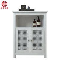 White bathroom cabinet factory custom home bathroom cabinet European style simple bathroom cabinet